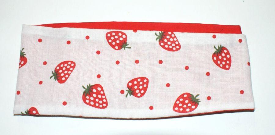 Reversible Strawberry & Polka Dot Bandanna
