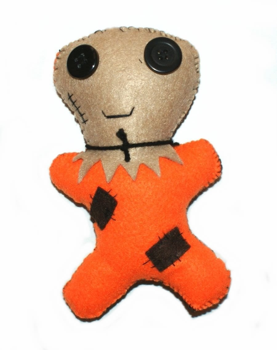 Unique Hand Made Scarecrow Voodoo Doll