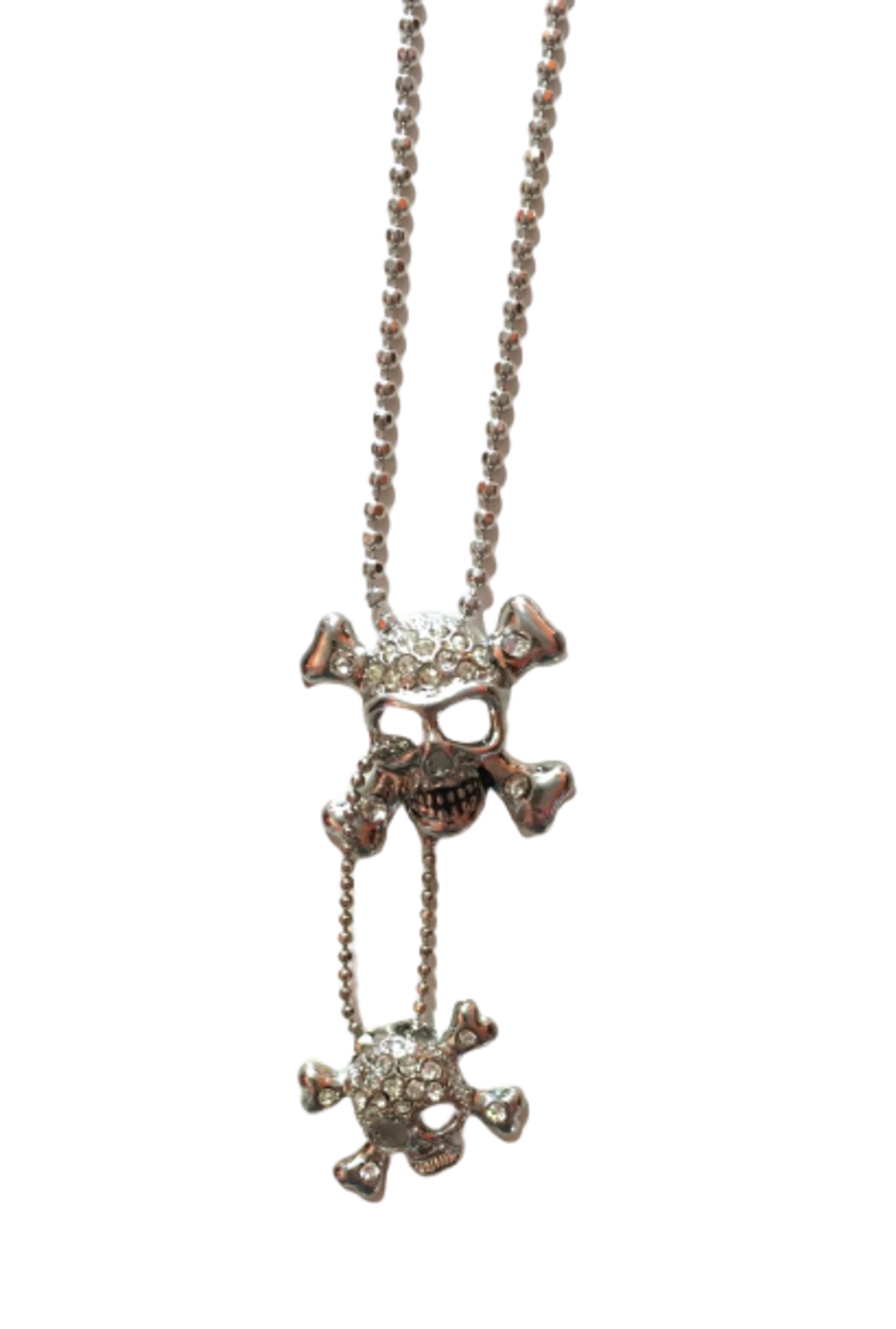Double Skull & Bone Necklace