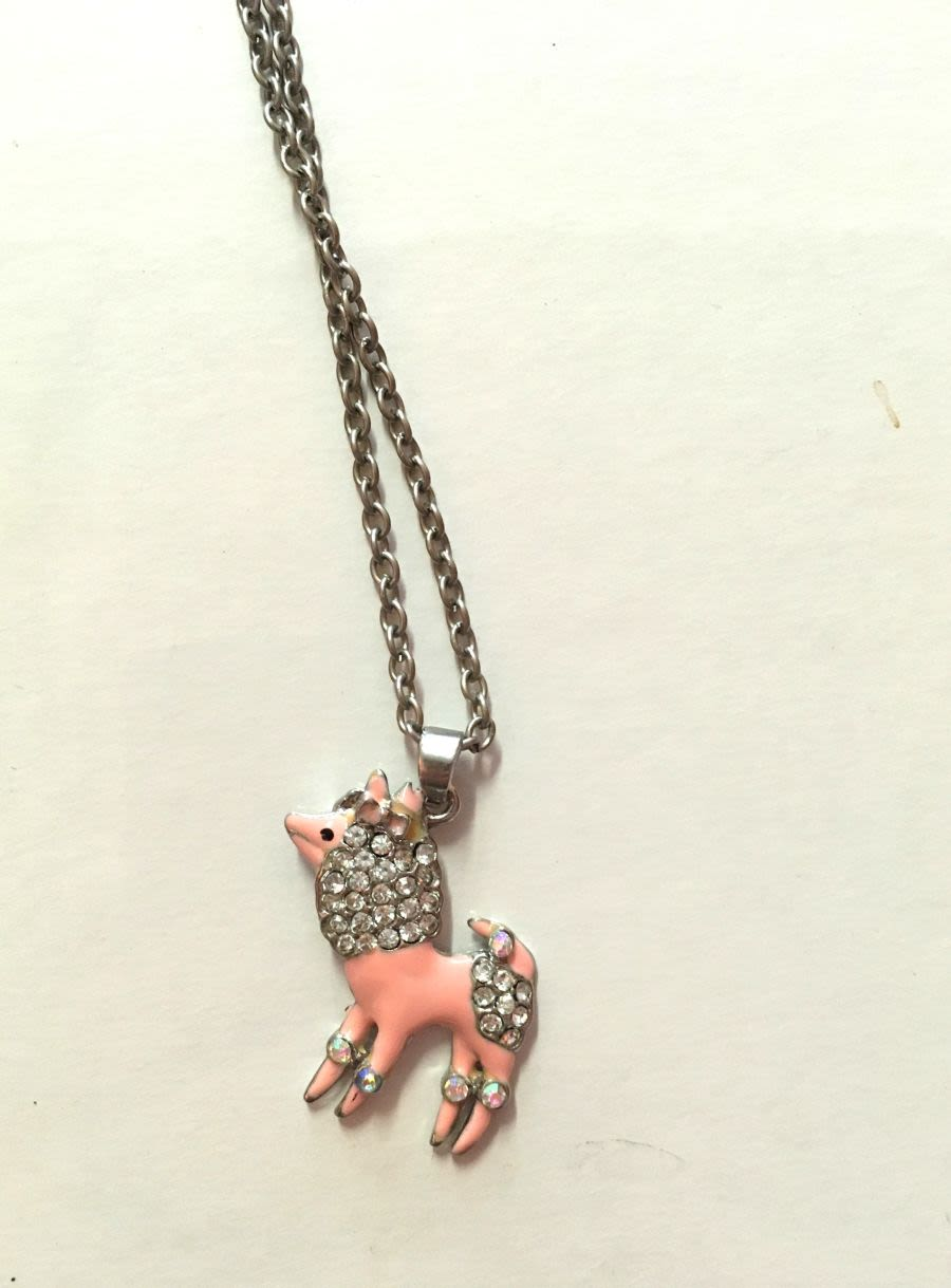 Diamante Dog Necklace