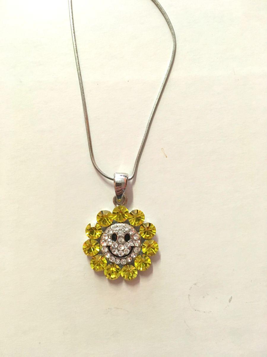 Diamante Flower Necklace