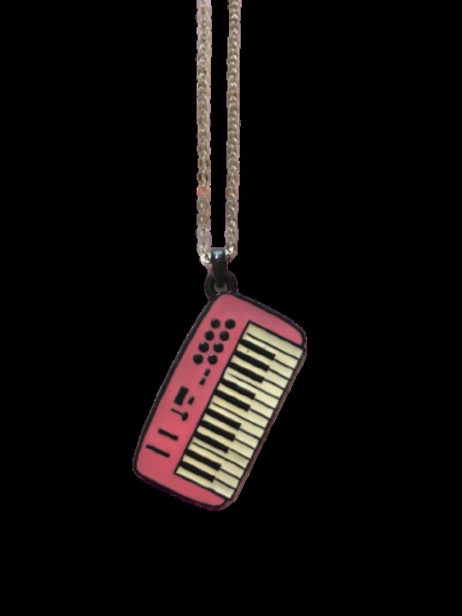 Vintage 80s Keyboard Necklace