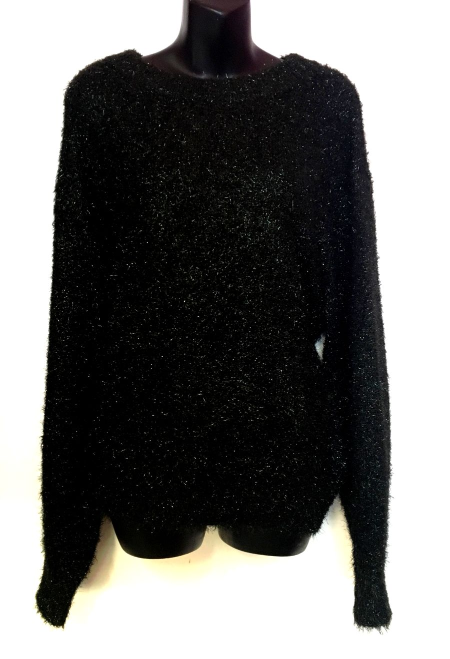 Vintage Womens 90's Black Knitted Sparkle Jumper