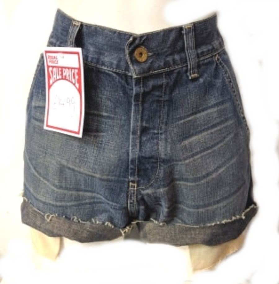 Dark Blue Vintage Levi Denim Shorts