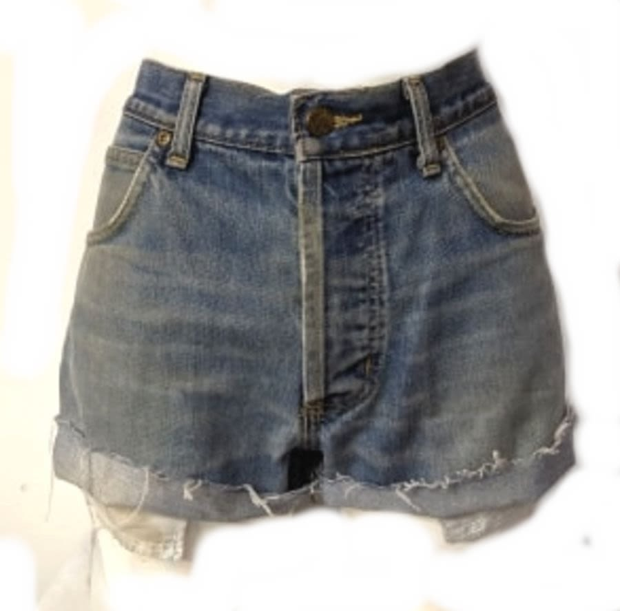 Vintage Womens Blue Levi Denim Shorts