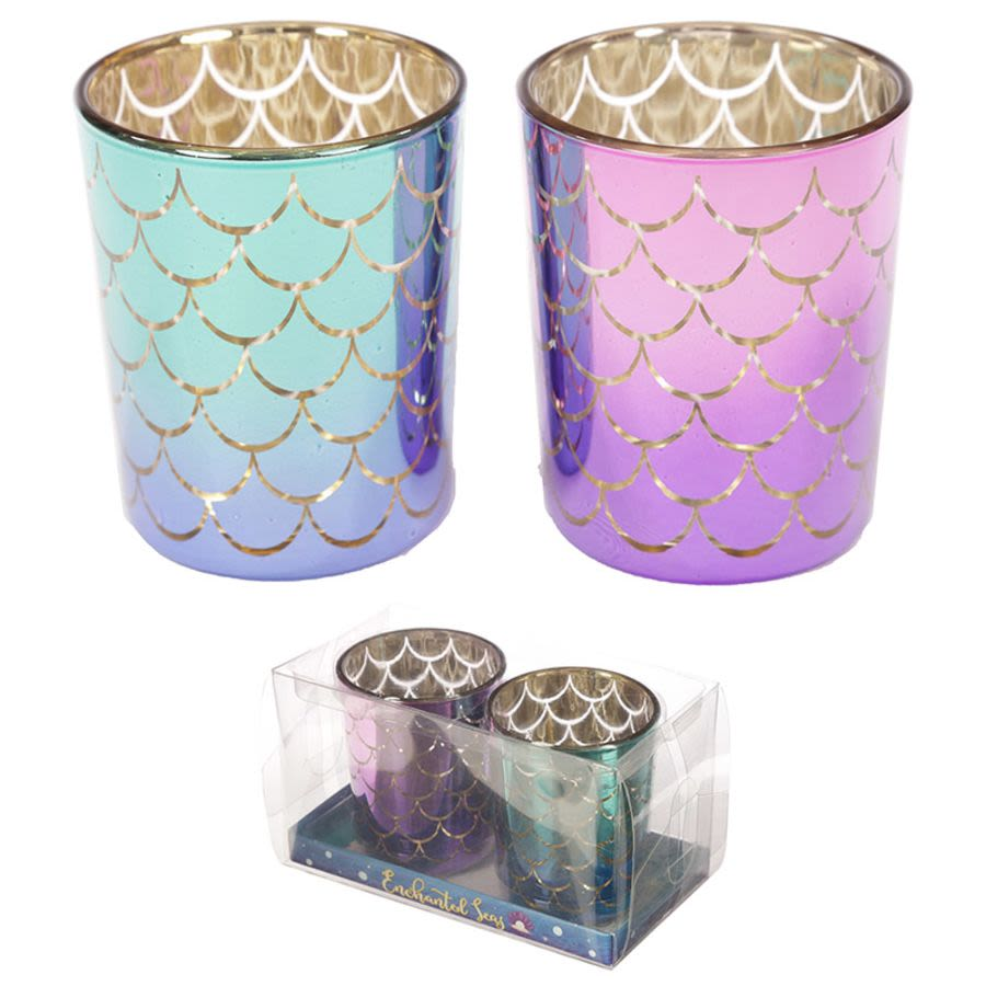 Mermaid Tail Glass Candle Holder