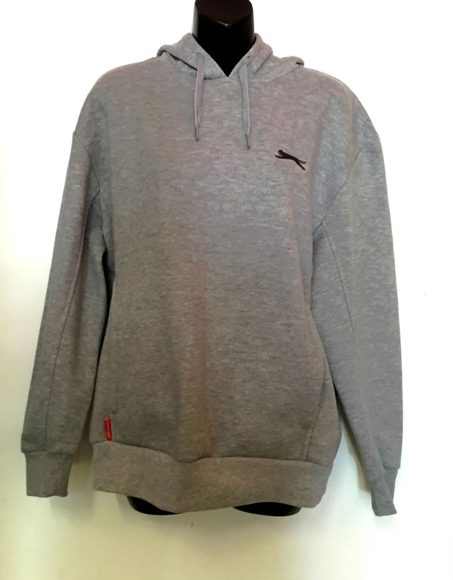 Vintage Mens Grey early 00's Slazenger Sports Hoodie