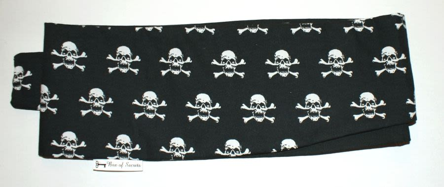 Box of Secrets Skull and Crossbones Black Headscarf