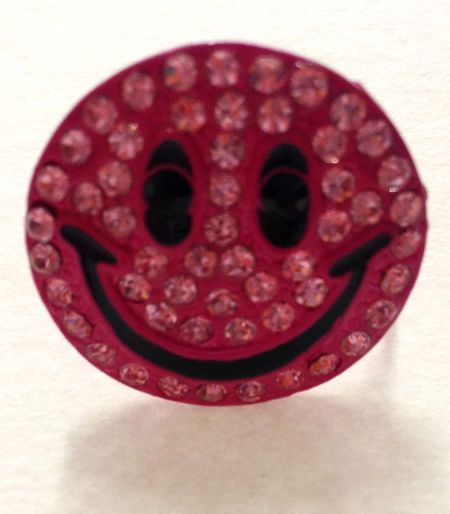 Pink Smiley Face Ring