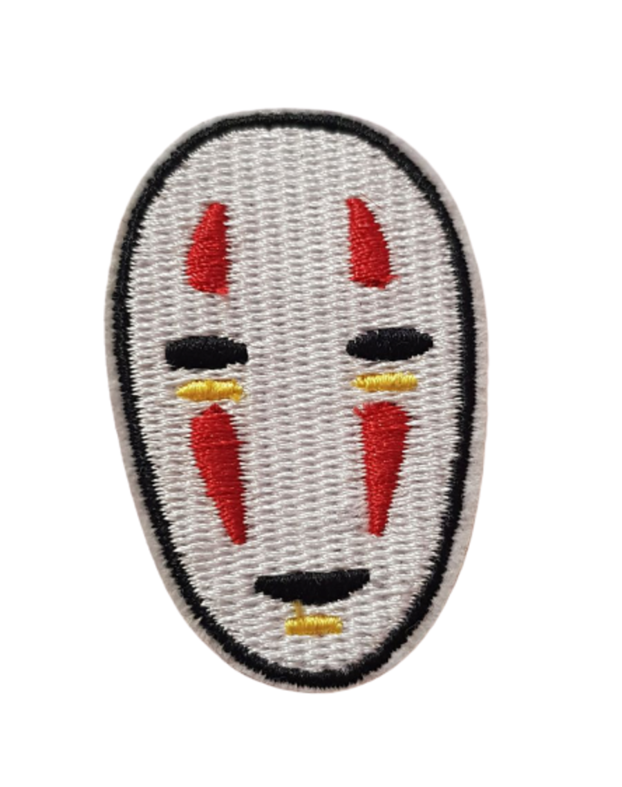 No Face Iron On Patch Small