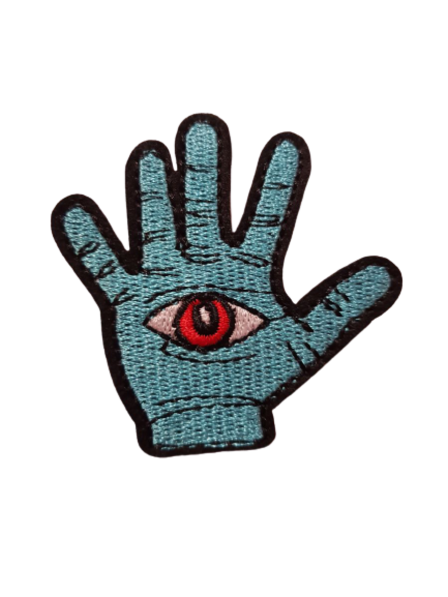 Blue Hand Evil Eye Patch Small