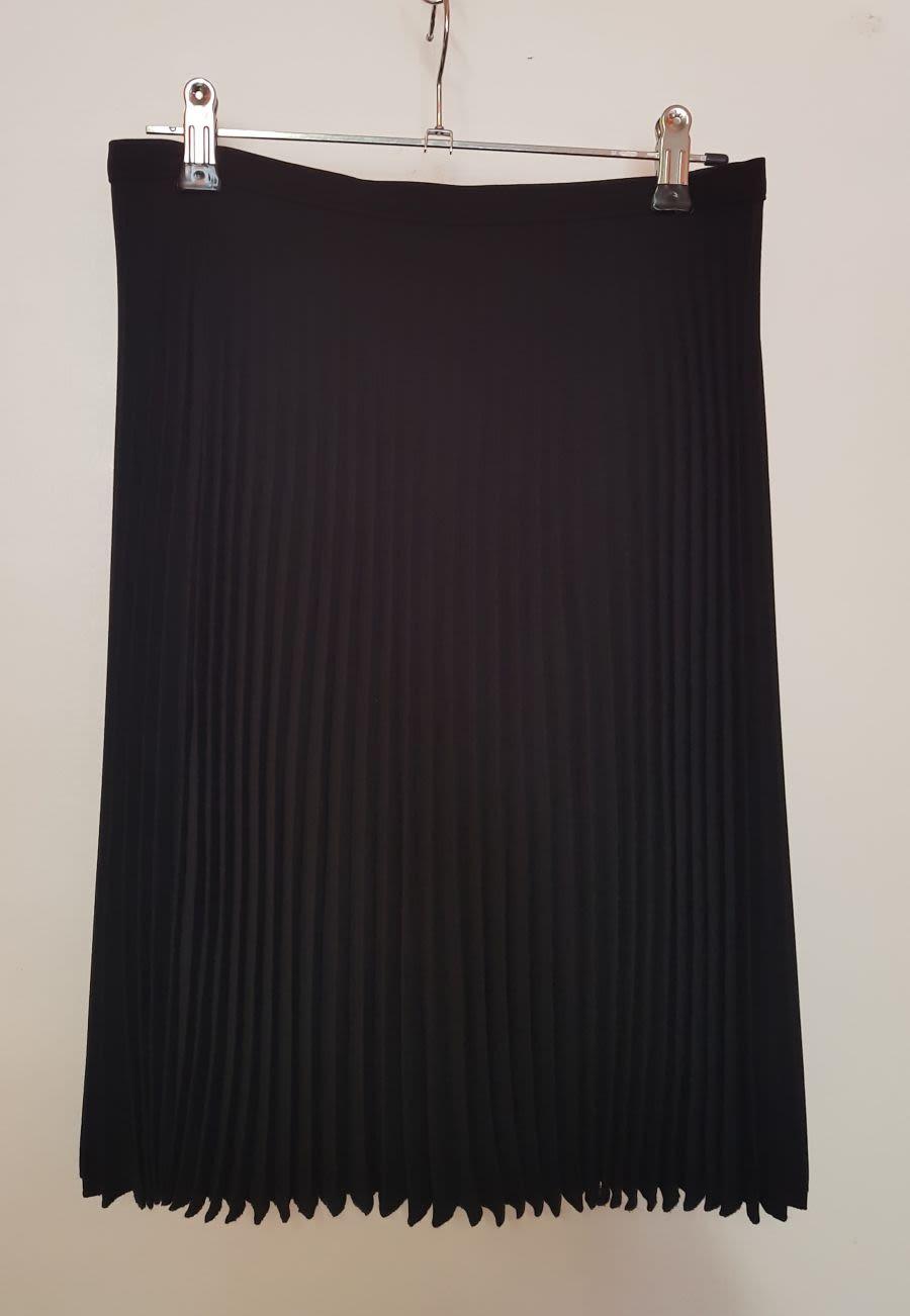 Womens Black M&S Pleated Skirt