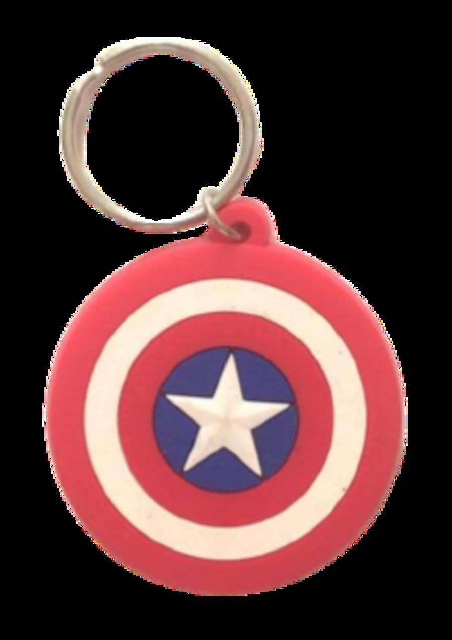 Captain America iconic shield keyring