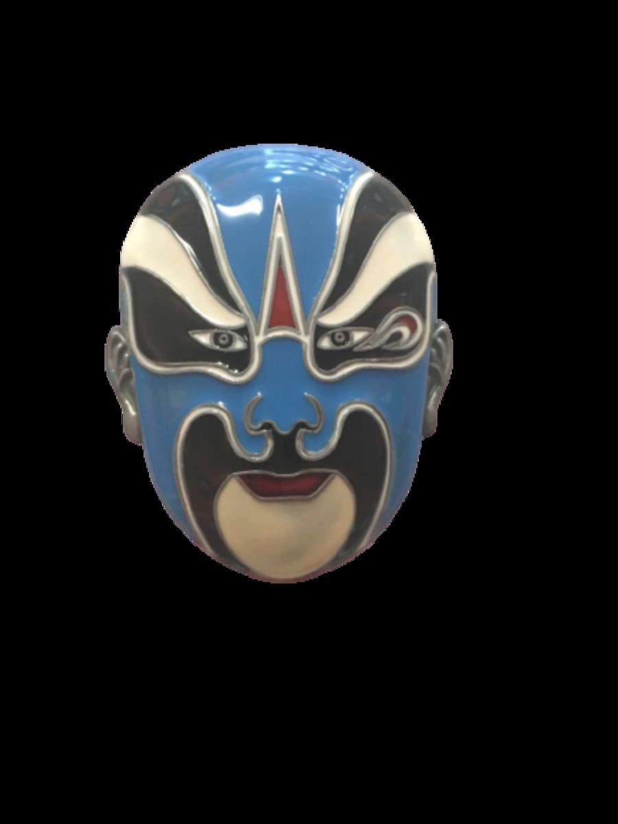 Blue Face Mask Belt Buckle