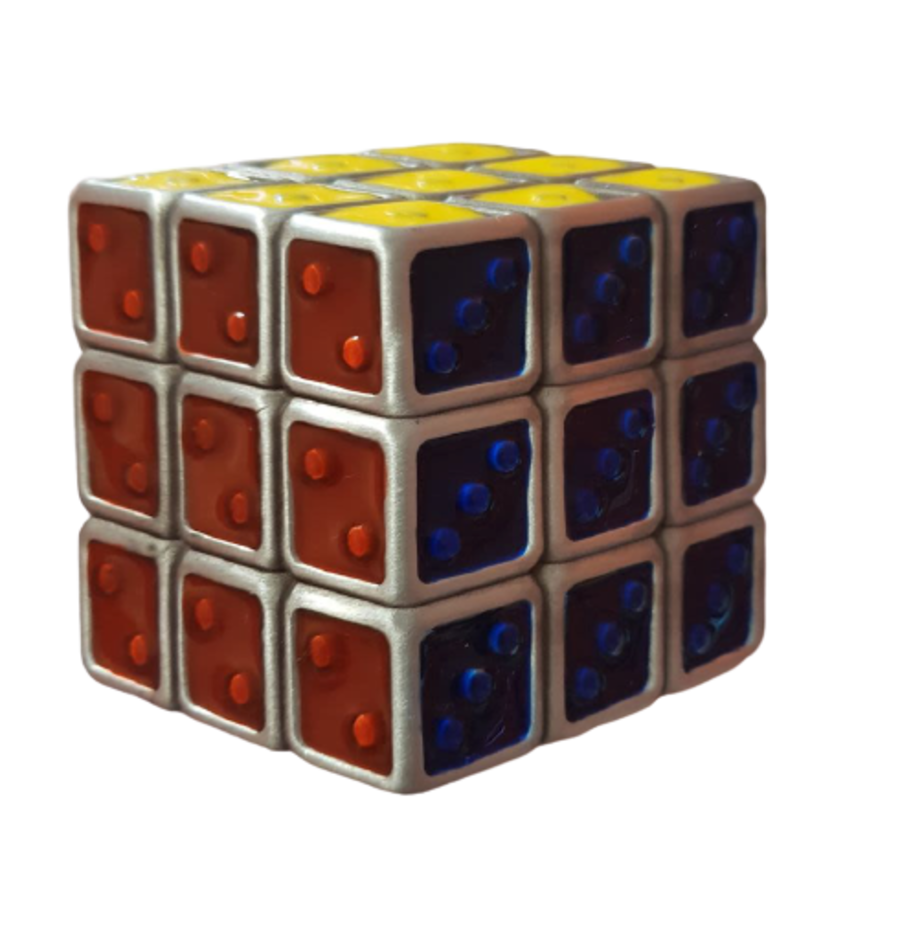 Vintage Y2K Rubix Cube Belt Buckle
