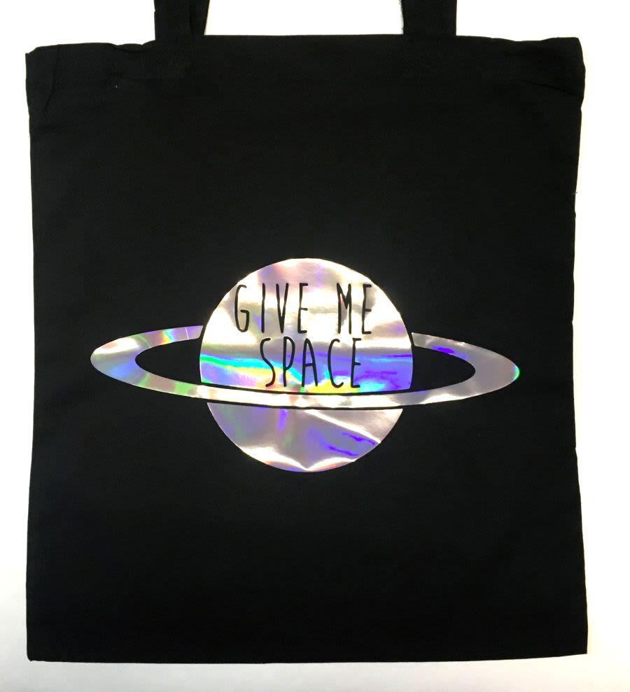 Give Me Space Saturn Tote Bag