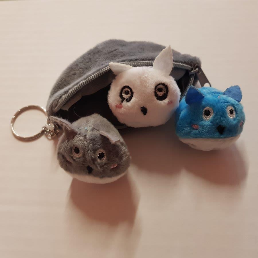 Totoro 3 Peas in a Pod Plush Keyring
