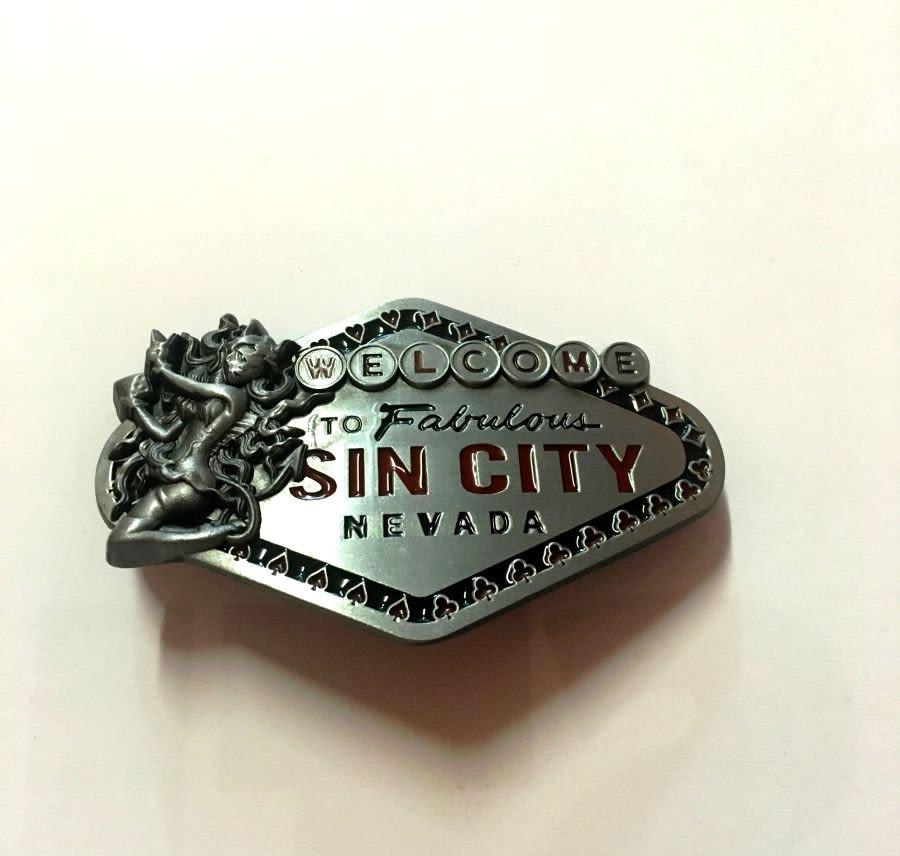 Sin City Belt Buckle