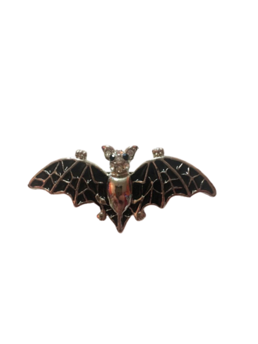 Bat Diamante Brooch