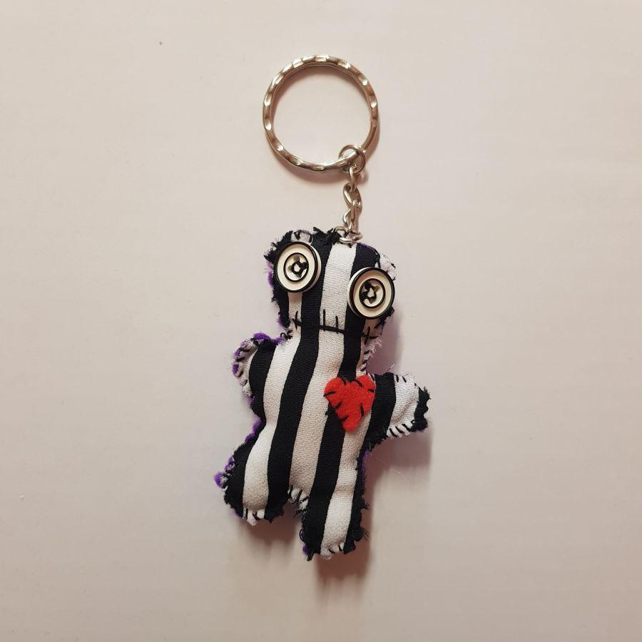 Voodoo Doll Stripy Keyring
