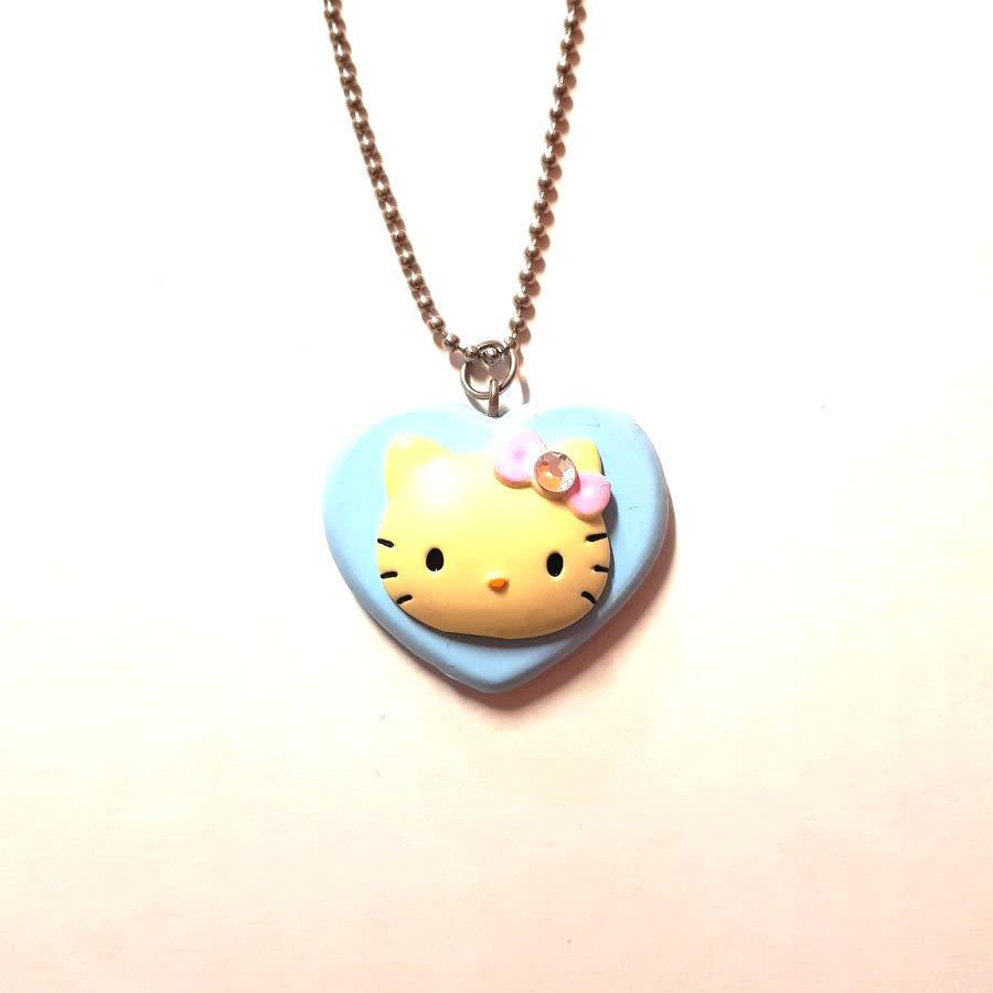 Hello Kitty Blue Heart Necklace