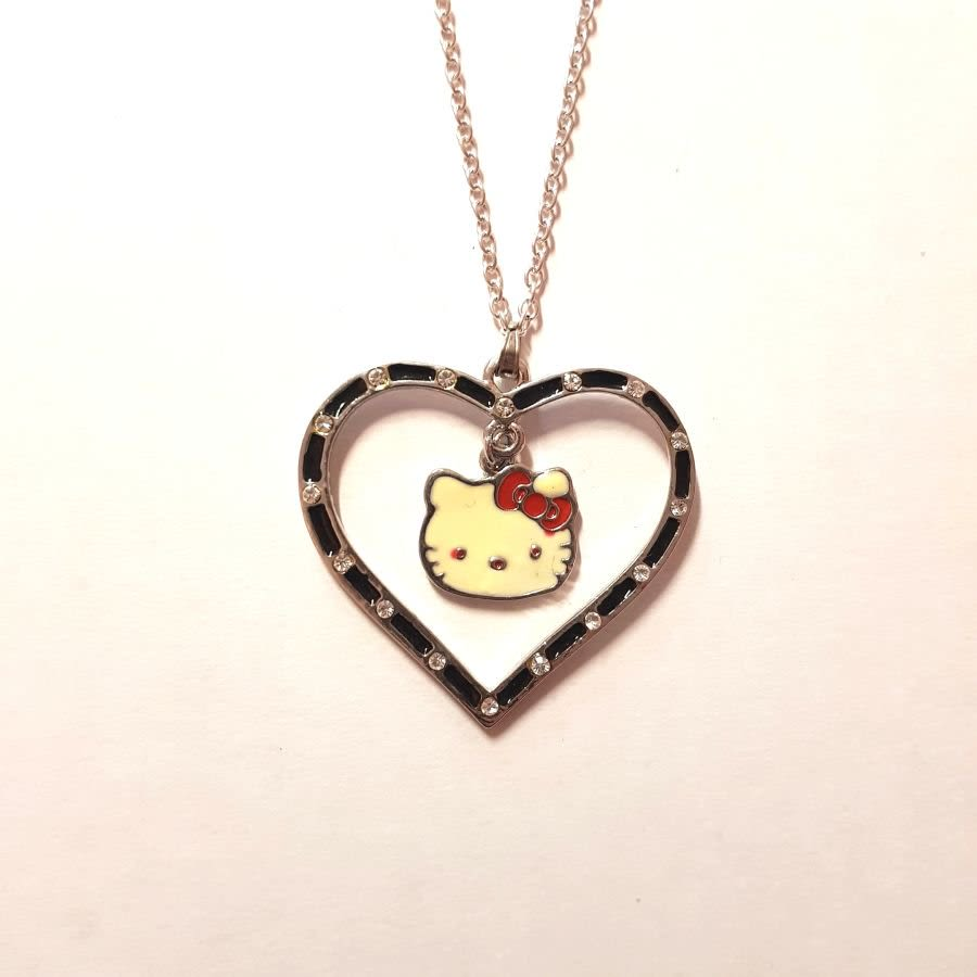 Hello Kitty In A Heart Necklace