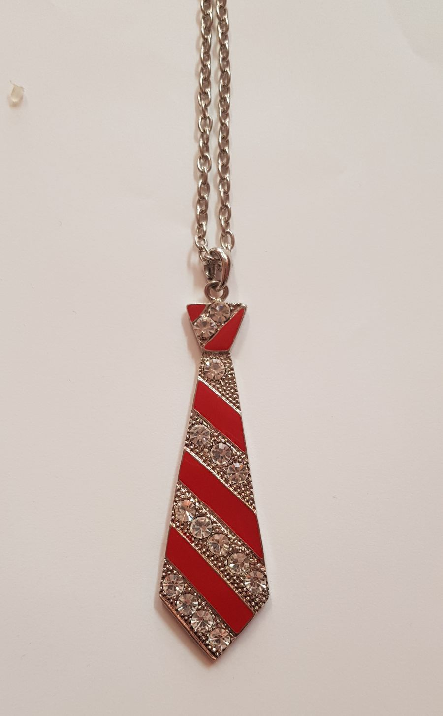 Red Tie Necklace