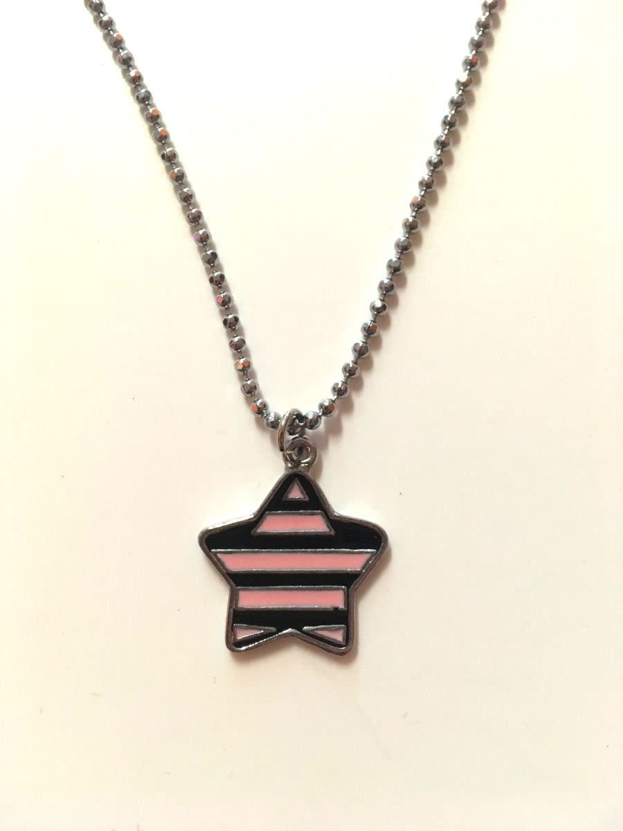 Black & Pink Star Necklace