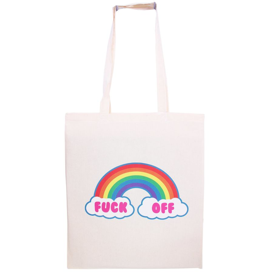 Fuck Off Rainbow Tote Bag