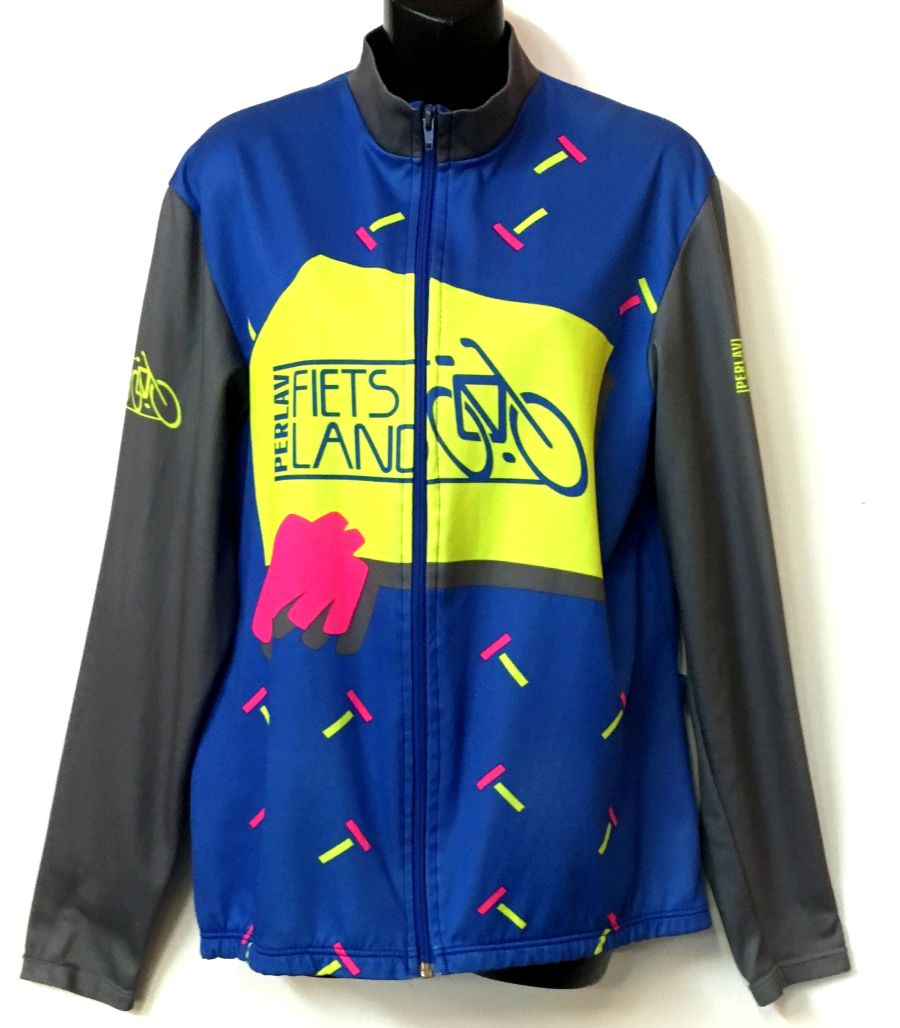 Vintage 1990's Cycling Jersey Perlav Fiets Land