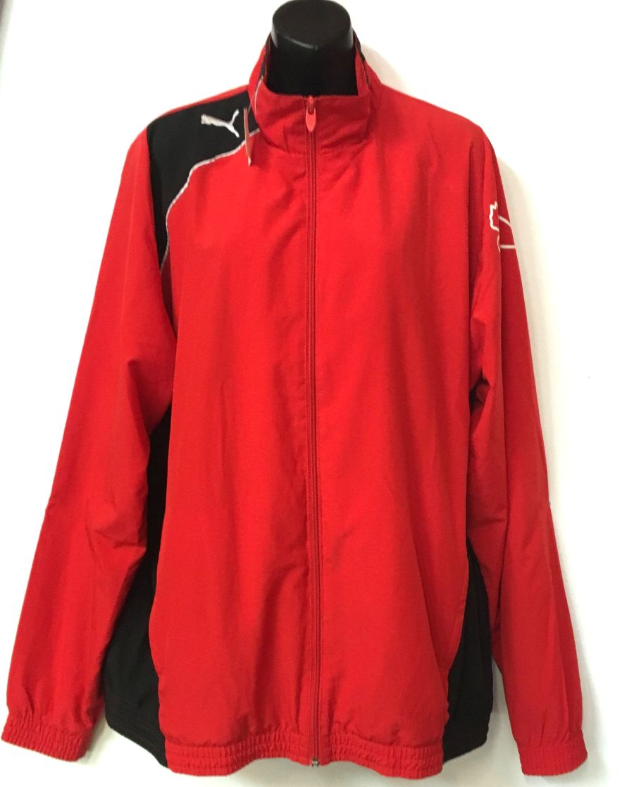 Vintage 1990's Puma Red and Black Tracksuit Sportswear Jacket