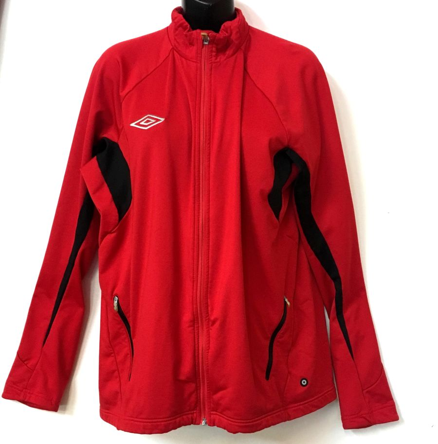Vintage Umbro Red and Black Tracksuit Sportswear Jacket