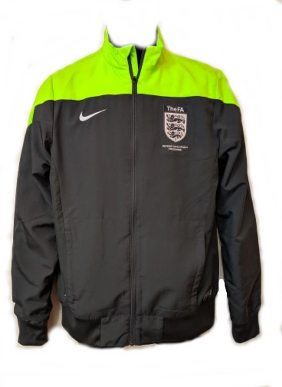 Vintage 90's Nike Dri-Fit Lime Green and Black Tracksuit Jacket