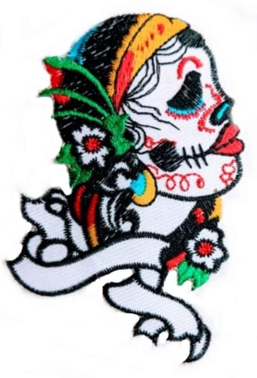 Sugar Skull Scroll Patch