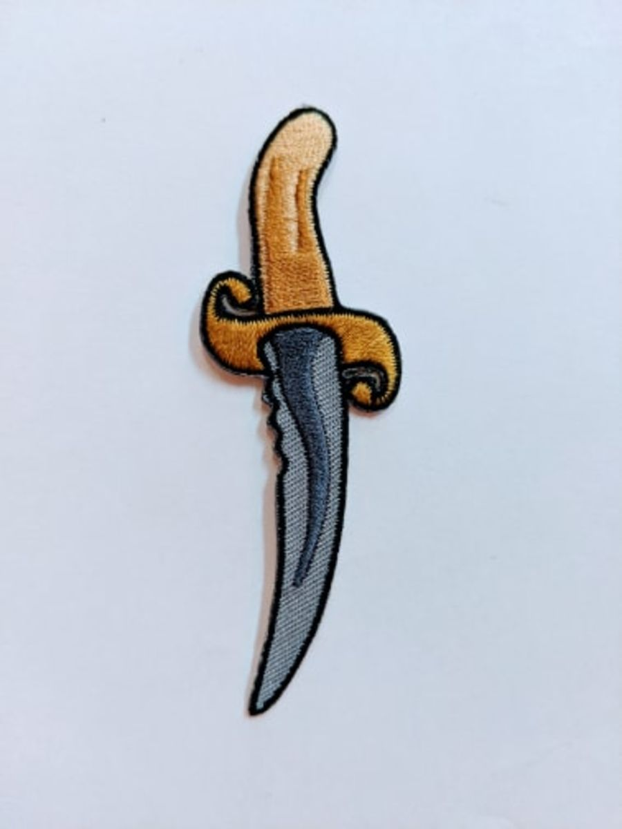 Pirate Dagger Iron On Patch