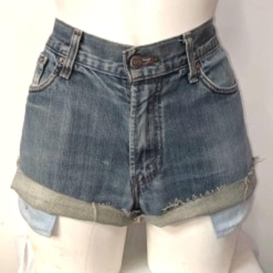 Light Blue Original Levi Shorts