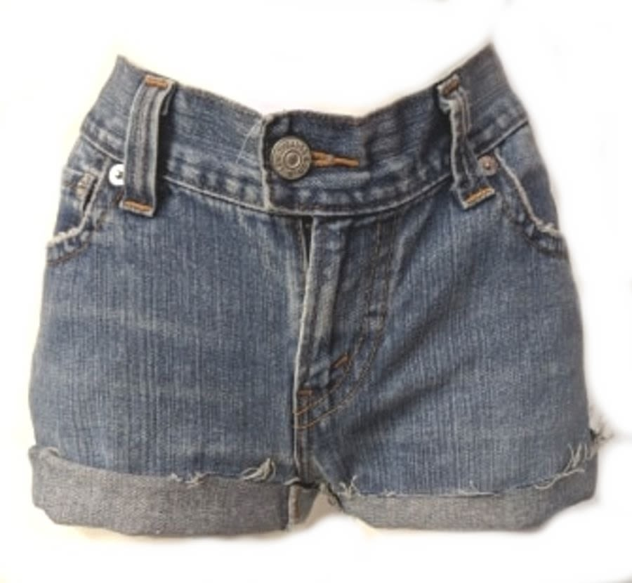 Light Blue Original Levi 506 Slouch Shorts