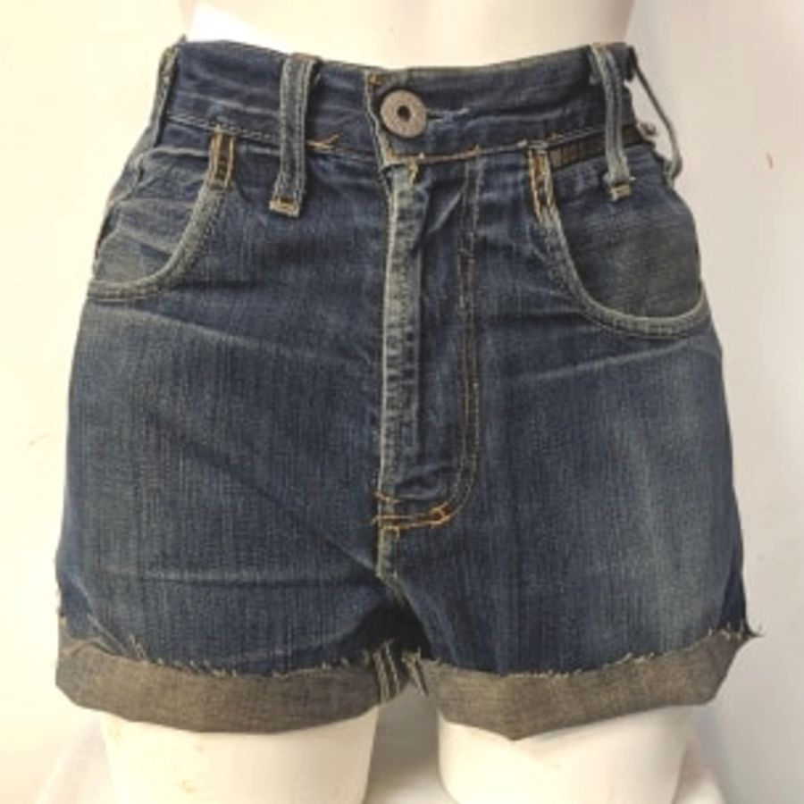 Blue Original Levi 504 Shorts