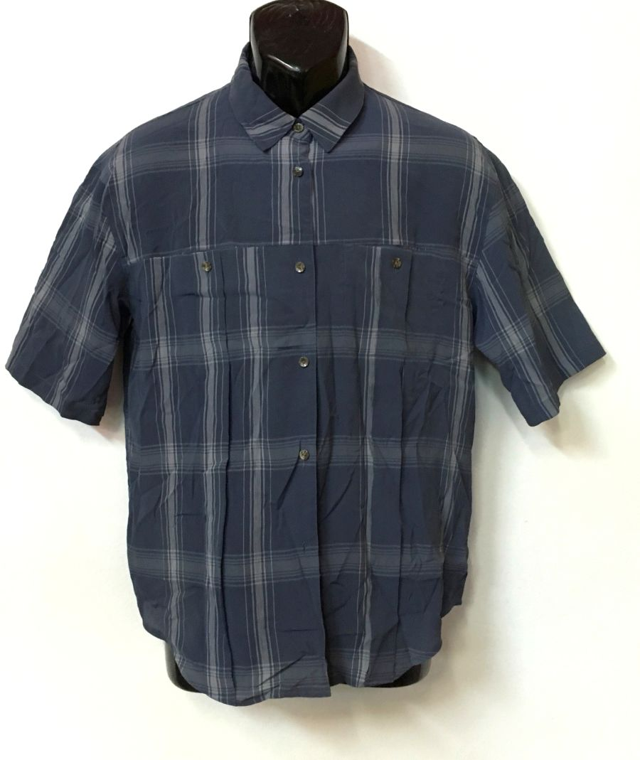 Vintage 1990's Preta Porter Pattern Short Sleeved Shirt