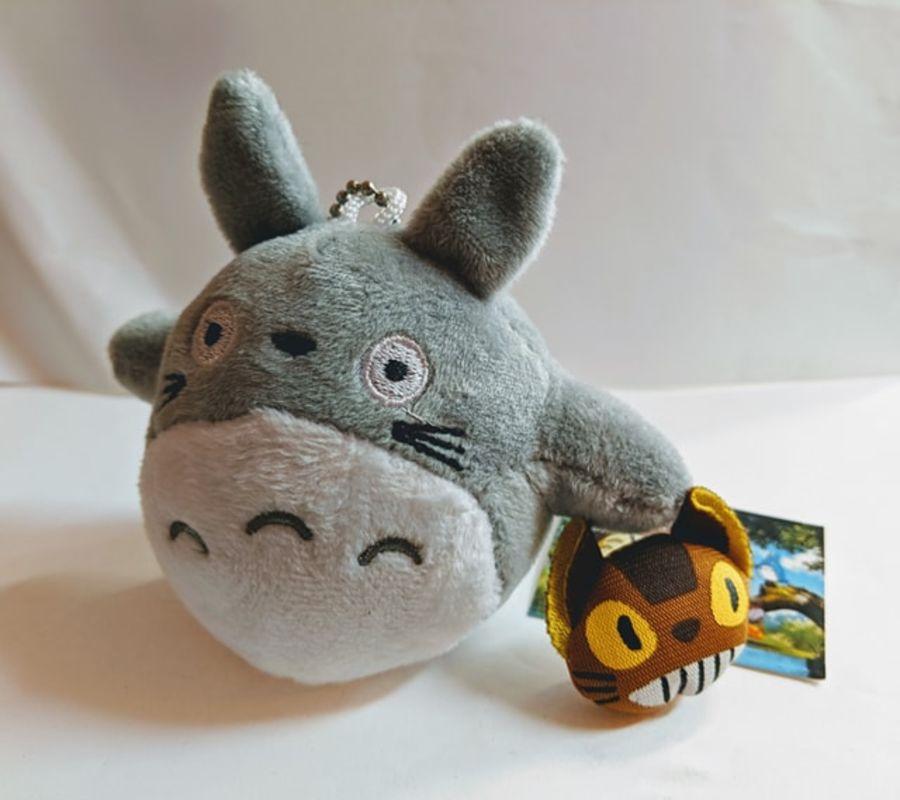 Totoro Plush Keyring with Mini Catbus