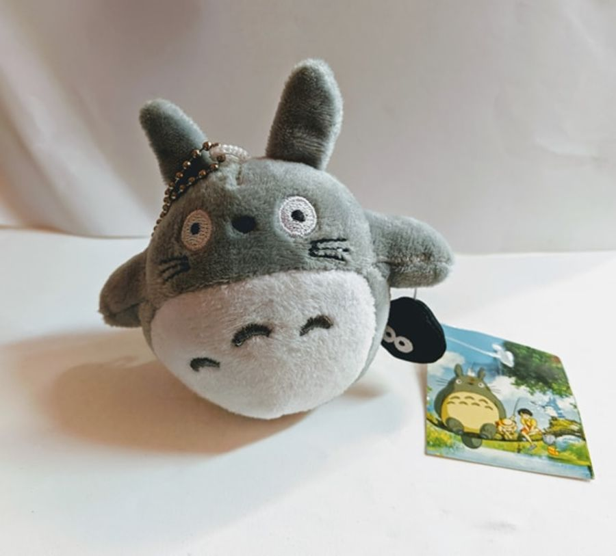 Totoro Plush Keyring with Mini Soot Sprite