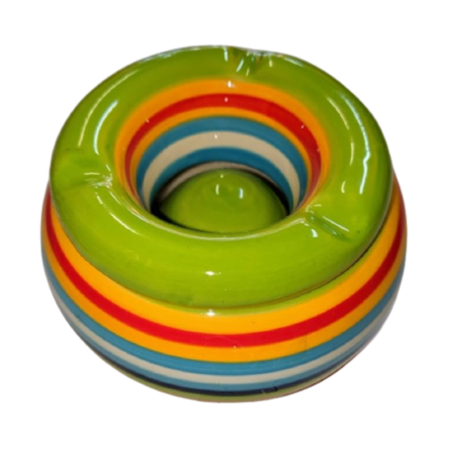 Out Of The Blue Striped Ash Tray Green