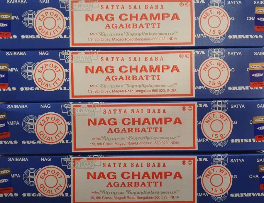 Satya Sai Baba Nag Champa Joss  Stick Incense