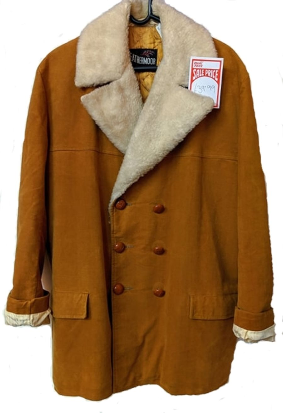 Vintage Mens 1970's Heathermoor For Sportswear FAKE SheepSkin Jacket