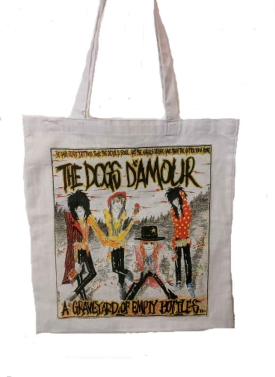 Vintage The Dogs D'Amour print tote bag in great condition
