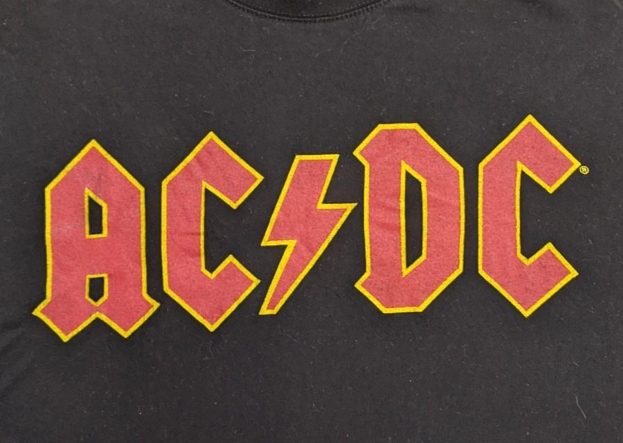 Vintage Original ACDC Logo Black T-Shirt