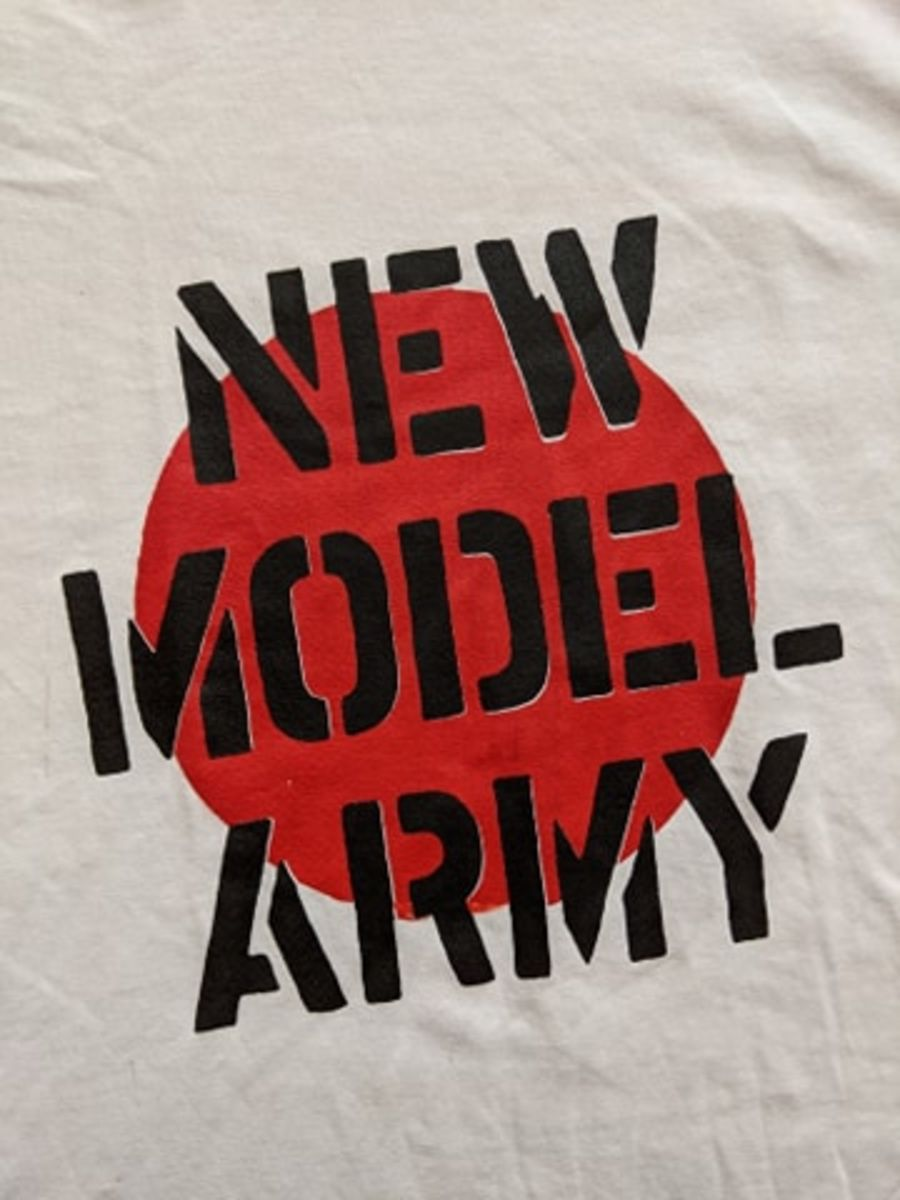 Vintage New Model Army classic logo white T-shirt
