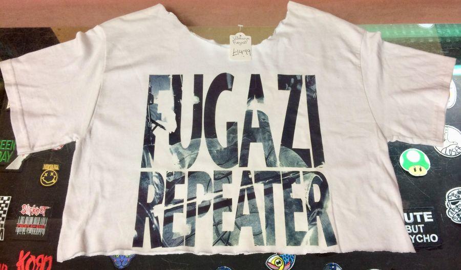 Vintage Cropped Fugazi Band T-Shirt