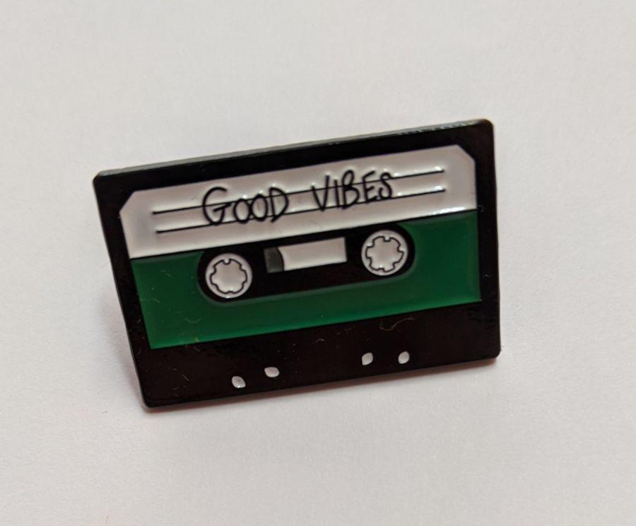 'Good Vibes' Cassette Enamel Pin