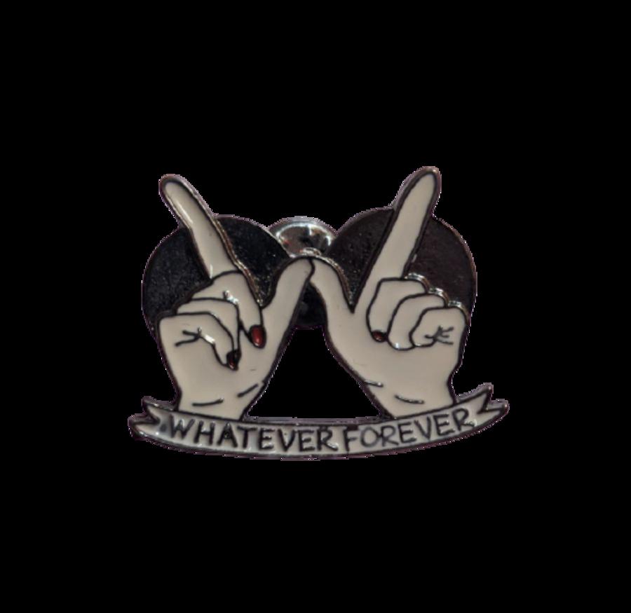 'Whatever Forever' W Hands Enamel Pin